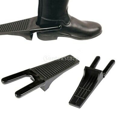 "2x Plastic Boot Jack Boot Puller 12.8x4.1x2.6"" Heavy Duty for Shoes Remover"