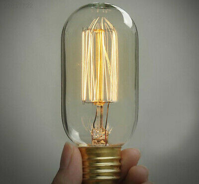 1A86 Edison Vintage Antique Retro Style E27 T45 40W/220W Decor Light Glass Bulb