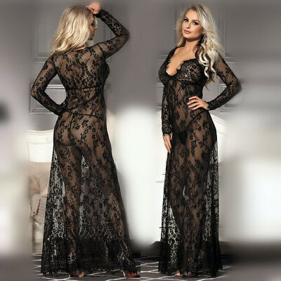 Womens Sexy Sissy Babydoll Lace Dress Nightwear Sleepwear Ladies Lingerie AU