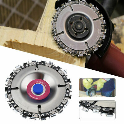4-Inch Grinder Disc and Chain 22-Tooth Fine Cutting Chain Set Wood Plastic Tool