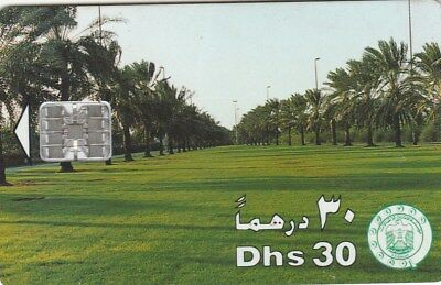 UAE Phonecard Etisalat is the Future Dhs 30 Palms and Lawns Used