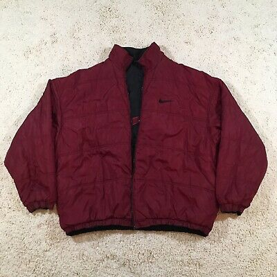 5b1cc5fa80e6 VINTAGE NIKE MEN S Red And Black Quilted Puffer Jacket Size 2XL ...
