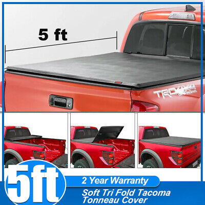 a12b9972982 For 2016-2018 Toyota Tacoma 5 Ft Short Bed Soft Vinyl Tri-Fold Tonneau
