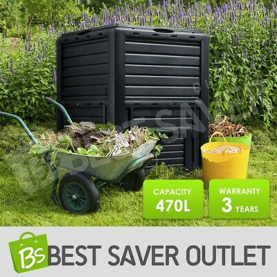 Compost Bin 470L Kitchen Garden Composting Food Waste Recycling Composter