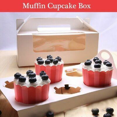 New Cupcake Box 6 holes Muffin Storage Cases Party Wedding with Window AU