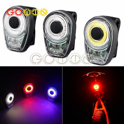 LED USB Rechargeable Bike Bicycle Tail Warning Light Lamp Rear Safety