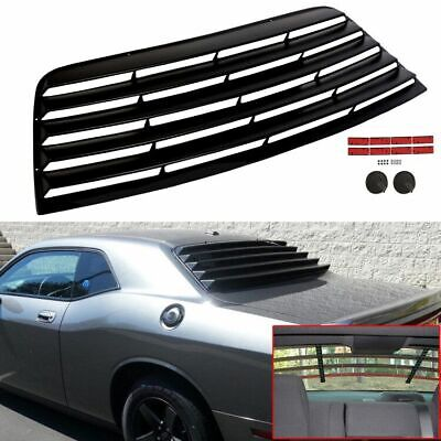 Fits 08-19 Dodge Challenger Rear Window Scoop Louver Sun Shade Cover Vent Black
