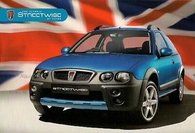 Addendums MG Rover 25 Streetwise Olympic Limited Edition New Leaflet brochure