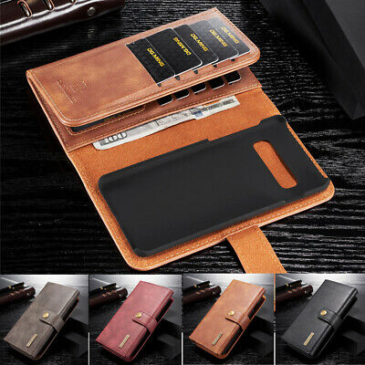 Real Leather Wallet Magnetic Flip Stand Case Cover For Samsung Galaxy S10 E Plus