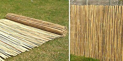 Traditional 4M Slatted Bamboo Fence Screen Panel for Garden Outdoor Privacy