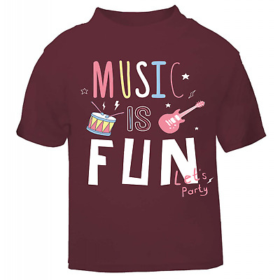 Music is fun, rock n roll cool t shirt, toddler, children, fashion, slogan tee