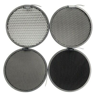 Set of 4 Honeycomb Grids for Reflectors Studio Lighting Photography Modifiers