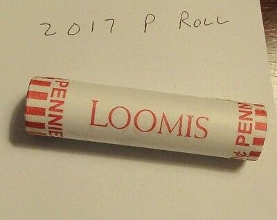 2017 P LINCOLN CENT MINT ROLL- 50 Brilliant Uncirculated Coins