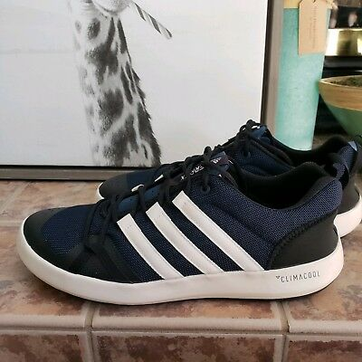 huge selection of 7f6d2 f3854 NEW ADIDAS OUTDOOR Men's Terrex CC Boat Walking Shoes, Navy Black size 10M