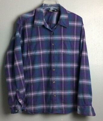2c984aaf City Girl Country Girl Ladies Plaid Flannel Long Sleeve Button Shirt Sz 1X
