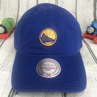 cheap for discount 72b82 7fc40 MITCHELL   NESS NBA Golden State Warriors Strapback Dad Hat Royal Blue Daddy  Cap