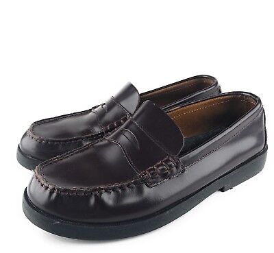 2784fa6d3ed SPERRY TOP SIDER Penny Loafer Boat Shoes Slip-On Leather Colton Boys Size 6  M