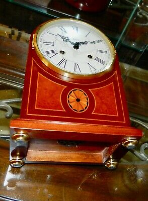 ***exquisite 8 Day Key Wound Hermle  Mantel Clock****