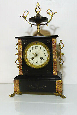 French Marble Clock Antique Clock Old Clock Shelf Mantel