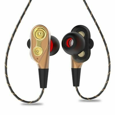 Noise Isolating Headset In-Ear Earphone Super Bass Stereo  Dual Dynamic Driver