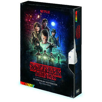 Stranger Things VHS A5 Notebook Retro New UK Official Stationery Journal