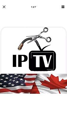 PREMIUM IPTV Subscription USA , UK & CANADA with VODs WORLDWIDE 1 Year Subscr