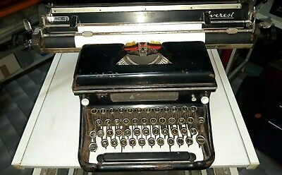 EVEREST Mod. S MACCHINA PER SCRIVERE del 1945 OLD TYPEWRITER NO OLIVETTI MADE IT