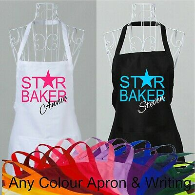 Personalised Star Baker Apron Cook Novelty Great Cooking Name British Bake Off
