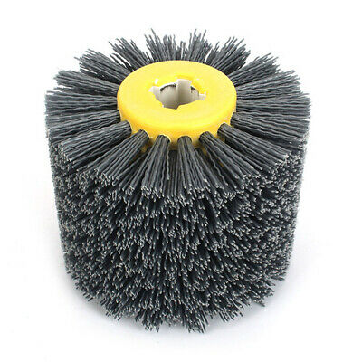 "5""Abrasive Wire Drawing Wheel Brush For Wood Polishing Deburring 80-320 Grit"