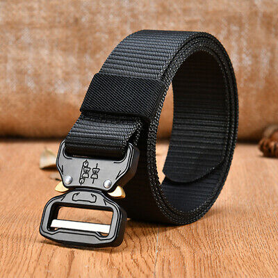 Quick Release Army Belt Military Training Belt Metal Buckle Tactical Webbing