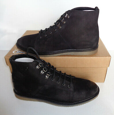 Mens Black Suede Leather Boots Shoes Lace Up New Smart Formal UK Sizes 7 8 9