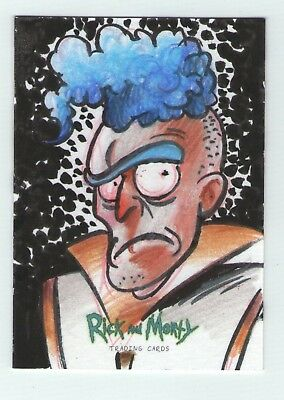 Rick and Morty season 1 Sketch Card by Al Stefano - from Cryptozoic