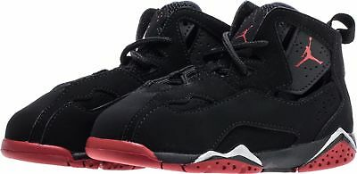 best website a834b 21925 Toddler Jordan True Flight BT 343797-003 Black Gym Red Brand New Size 10c
