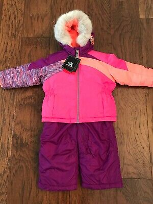 627b3baba NEW Infant Toddler Girls ZeroXposur Snowsuit Snow Pants & Jacket Pink 18  months