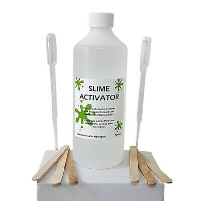 Borax Slime Activator for Slime 500ml All In One Formula SIMPLY add to PVA Glue