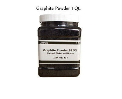 Natural Graphite Powder, Flakes, Micronized, 5 Micron (1 qt container)