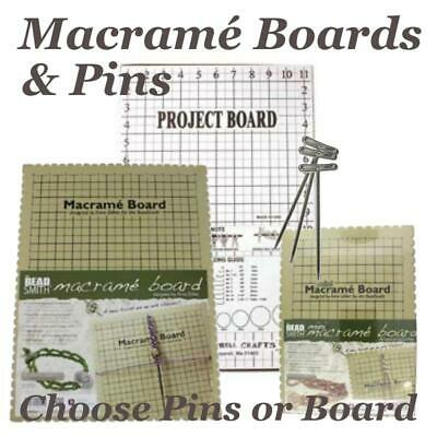 Beadsmith Macramé Board  for Micro Jewellery Choose T-Pins or Mini Large Boards