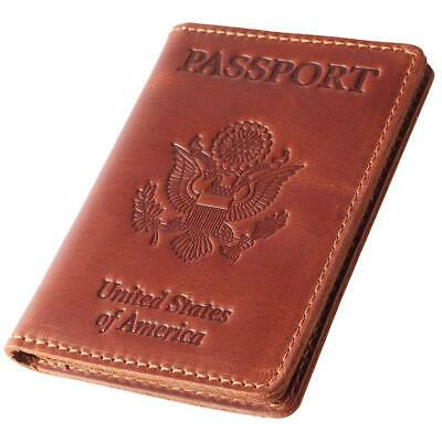 Leather Passport Holder - Cover - Travel Wallet Case
