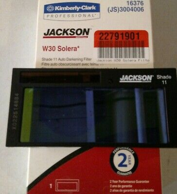 *NEW* Jackson Huntsman shade 11 W30 Solera auto darkening welding filter lens