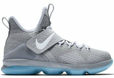 78014b943f9  140 Nike Youth LeBron 14 Mag Marty Mcfly Boys Basketball Shoes Matte Silver  6.5