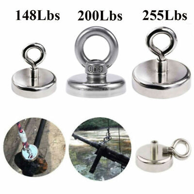 148LB -255LB FISHING MAGNET Super Strong Neodymium Eyebolt Treasure Hunting