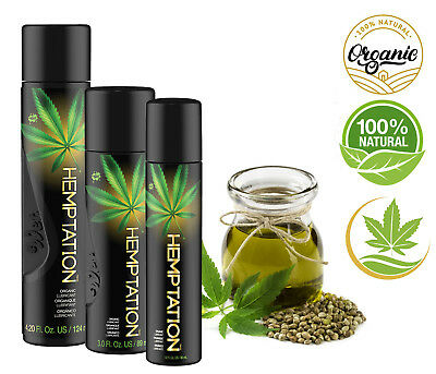 WET 100% Natural Organic Hemp Lube Enhance Vaginal Anal Ease Body-Safe Lubricant