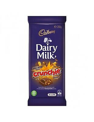 Cadbury Crunchie Bar To Block Dairy Milk Chocolate 200gm x 15