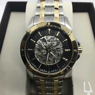 Bulova Men's Automatic Two Tone Stainless Steel Case  Watch 98A146 #87
