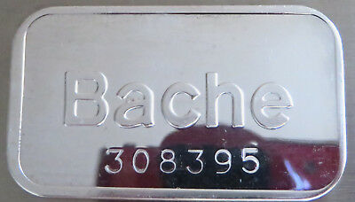 1981 Bache Art Bar Pioneer Mint Serial #308395 .999 Fine Silver 1 Troy Oz