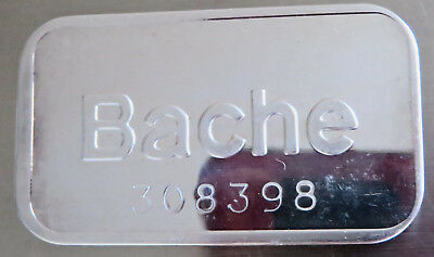 1981 Bache Art Bar Serial #308398 Pioneer Mint 1981 .999 Fine Silver 1 Troy Oz