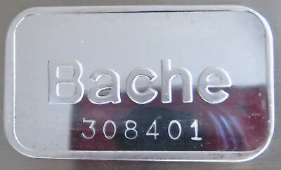 1981 Bache Art Bar Serial #308401 Pioneer Mint .999 Fine Silver 1 Troy Oz