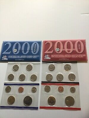 2000 US Mint Uncirculated P & D Complete Coin Set