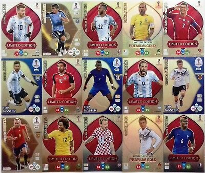 PANINI ADRENALYN XL - FIFA WORLD CUP RUSSIA 2018 - LIMITED EDITION and RARE