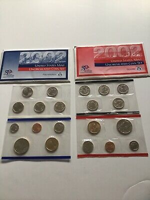 2002 US Mint Uncirculated P & D Complete Coin Set